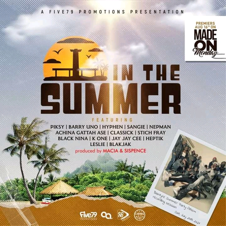 Five 79 Promotions – In The Summer featuring Piksy,Barry Uno,Hyphen,Sangie,Nepman,Achina Gattah Ase,Classick,Stich Fray,Black Nina,K One,Jay Jay Cee,Heptik,Leslie,Blakjak (Prod by Macia & Sispence)